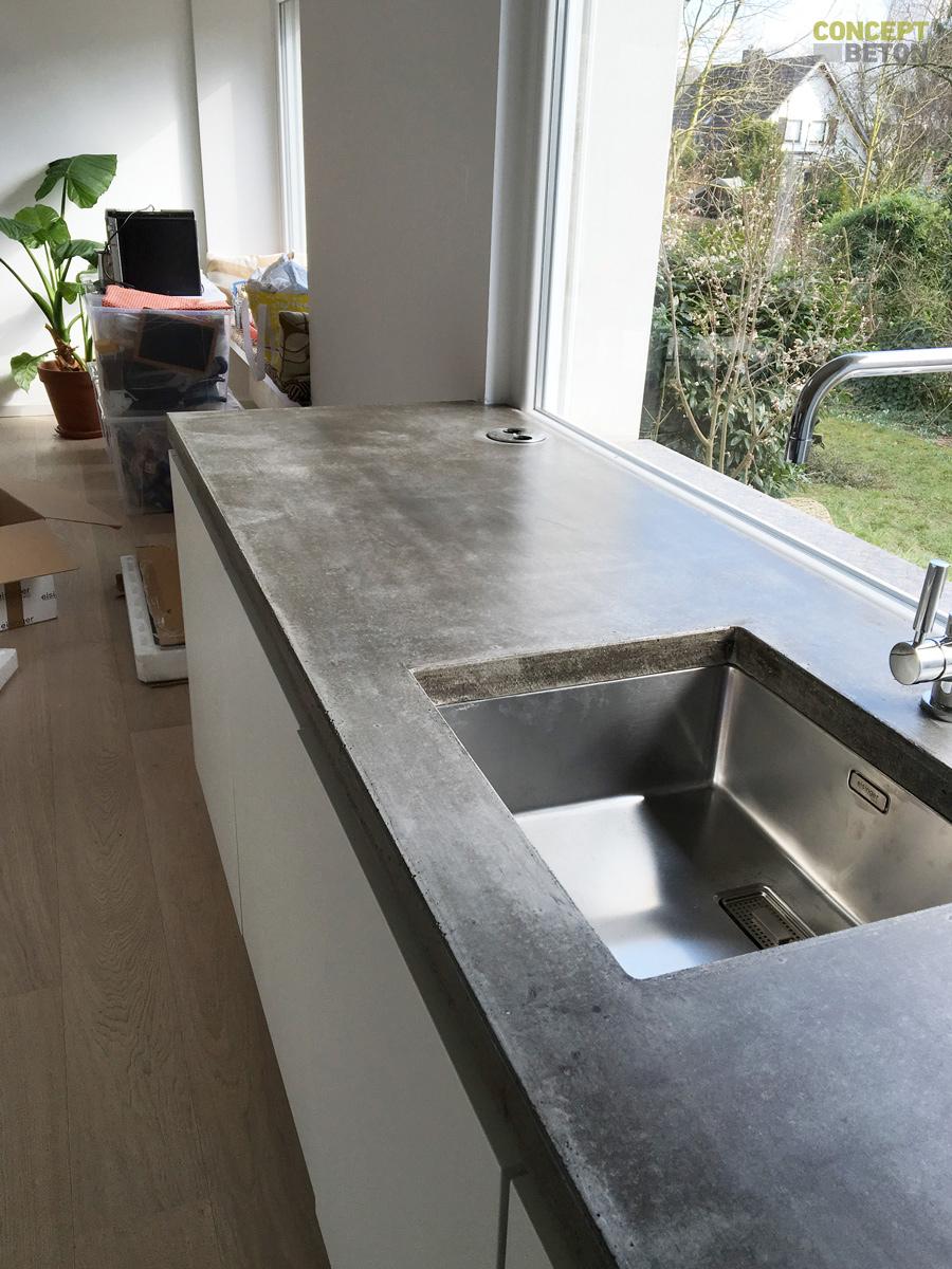 fantastisch k chenarbeitsplatten aus beton fotos die. Black Bedroom Furniture Sets. Home Design Ideas